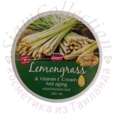 Антивозрастной питательный крем с экстрактом лемонграсса и витамином Е Banna, 250 г фото 1