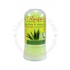 Тайський сольовий дезодорант з алое і зеленим чаєм Isme Rasyan, 80 г