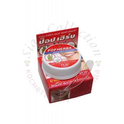Твердая зубная паста Бамбуковый древесный уголь и соль Bamboo Charcoal & Salt Toothpaste POP HERBS, 30 гр фото 1