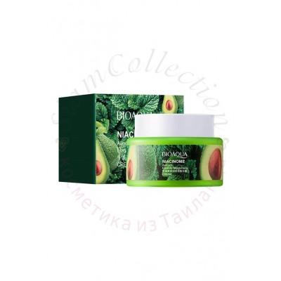 Увлажняющий крем с авокадо и пептидами Niacinome Avocado Elasticity Moisturizing Cream Bioaqua фото 1