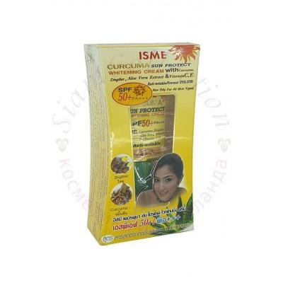 Солнцезащитный крем с куркумой с отбеливающим эффектом Isme Rasyan, 20 г фото 1