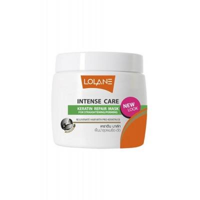Кератиновая восстанавливающая маска для волос поврежденных выпрямлением или завивкой Lolane 200 г фото 1