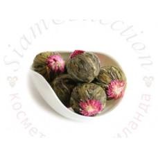 Связанный чай с бутонами Лотоса и Хризантемы