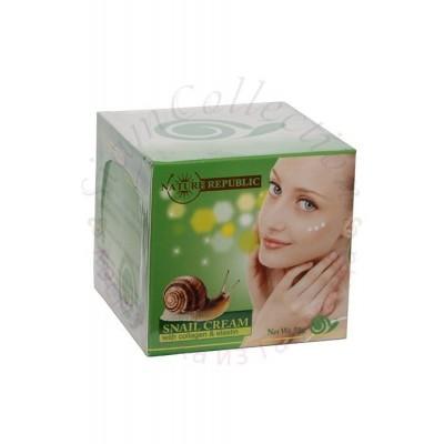 Улиточный крем с коллагеном и эластином Snail Cream with collagen and elastin фото 1