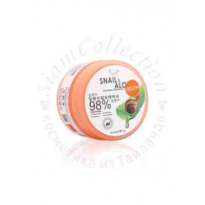 Увлажняющий улиточный крем с муцином улитки и алоэ Aloe&Snail 98% фото 1