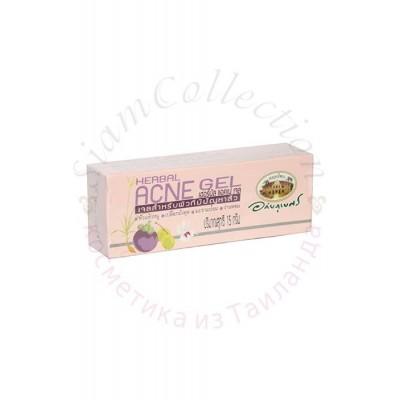 Крем-гель от прыщей, акне и угревой сыпи с мангостином Herbal Acne Gel Abhaibhubejhr фото 1