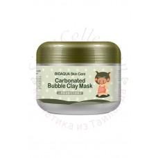 Маска для лица кислородная пузырьковая очищающая и отшелушивающая BIOAQUA Skin Care Carbonated Bubble Clay Mask