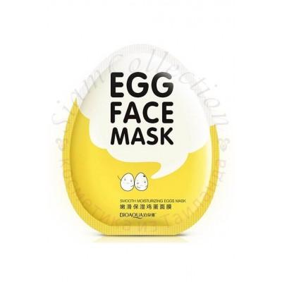 Маска для лица яичная увлажняющая BIOAQUA Egg Face Mask фото 1
