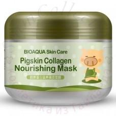Маска для обличчя з колагеном Bioaqua Skin Care Pigskin Collagen 100g Bioaqua