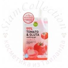 Зволожуючий гель для обличчя з екстрактом томата Tomato & Gluta Soothing Gel 50g Baby Bright