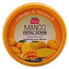Скраб для лица с экстрактом манго Banna