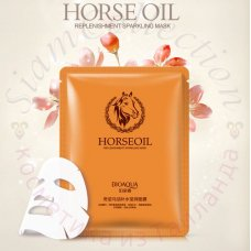 Восстанавливающая тканевая маска с лошадиным маслом Horse oil mask Bioaqua
