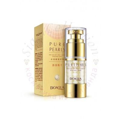 Крем-гель для області навколо очей на основі перлинної есенції Bioaqua Pure Pearls Eye Cream фото 1