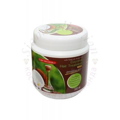 Натуральна маска для пошкодженого волосся з маслом кокоса фото 1