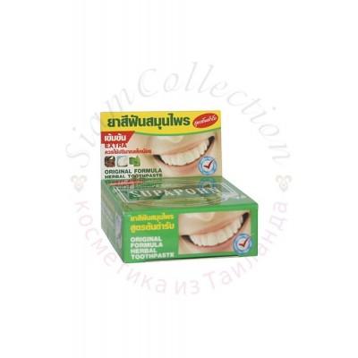 Твердая тайская зубная паста с экстрактом мяты Supaporn фото 1