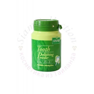 Отбеливающий зубной порошок на основе тайских трав Supaporn Tooth polishing powder plus herb Supaporn фото 1