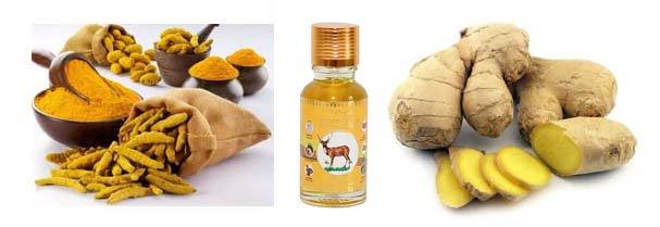 Имбирное масло Isme Rasyan обладает обезбаливающим эффектом