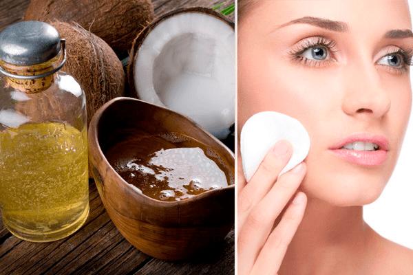 Снятие макияжа кокосовым маслом