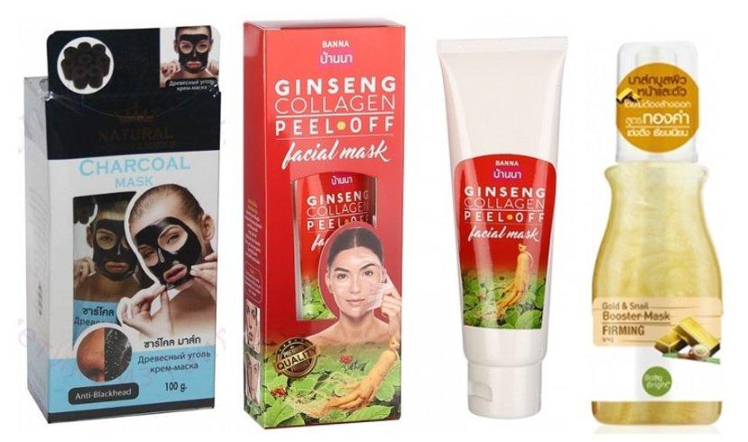 Натуральные тайские маски  для лица