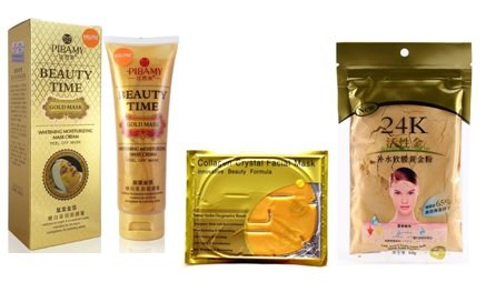 Натуральные  золотые маски из Таиланда