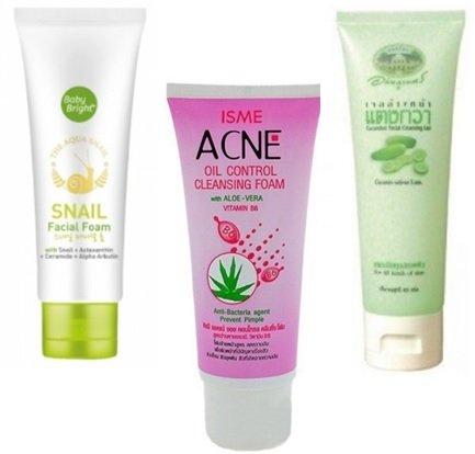 Пінки і гелі для очищення шкіри